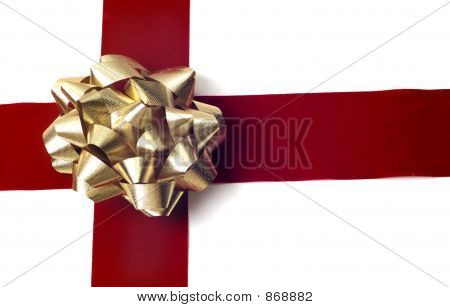 Gold Bow Gift Wrapping