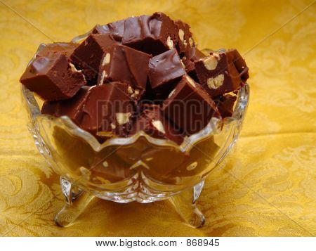 Crystal Bowl Of Fudge