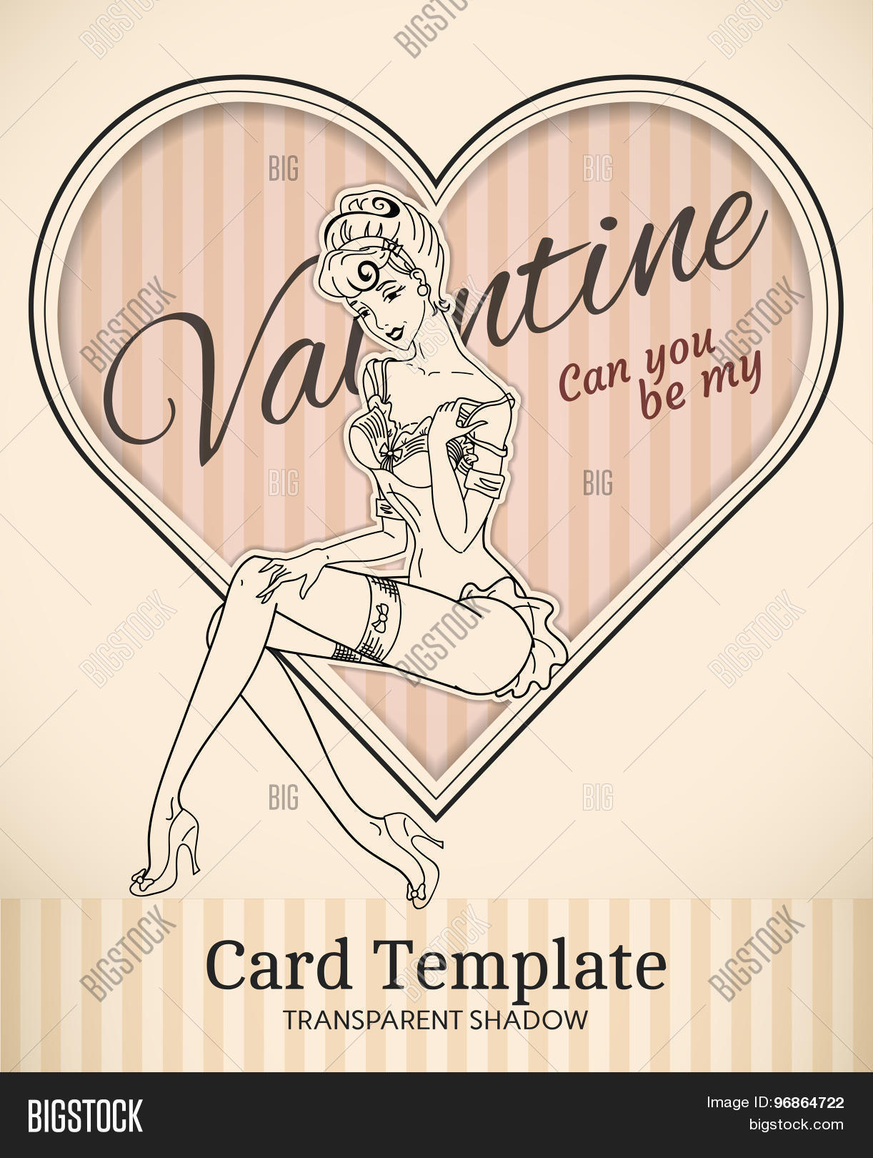 Valentine heart card vector photo free trial bigstock valentine heart card template maxwellsz