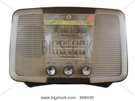 Isolated Vintage Radio