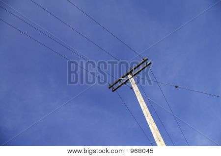 Overhead Telephone Pole