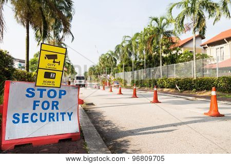 Security post check point of a residential area