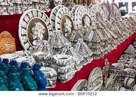 Souvenir Market With Different Goods