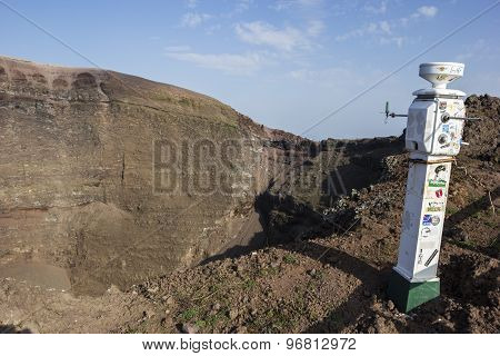 Seismograph In Vesuvius National Park In Italy
