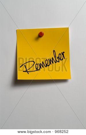 """Sticky Notes - """"Remember"""""""