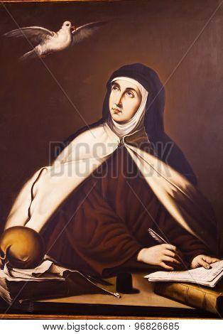 Saint Teresa Painting Convento De Santa Teresa Avila Castile Spain