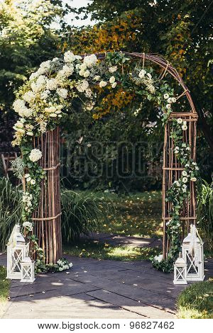 Wedding Arch In Forest