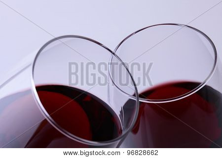 Two Goblets With Red Wine
