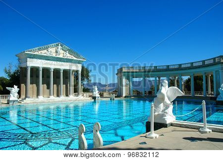 the Magnificent Outdoor Swimming Pool In Hearst Castle, California.