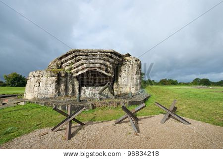 Crisbecq fortified position that defended Utah Beach, Normandy, France