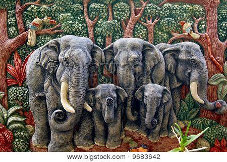 molded elephant figure