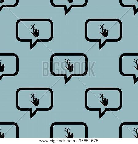 Pale blue hand message pattern