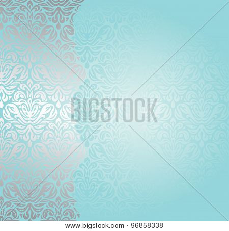 Fashionable turquoise and silver invitation design