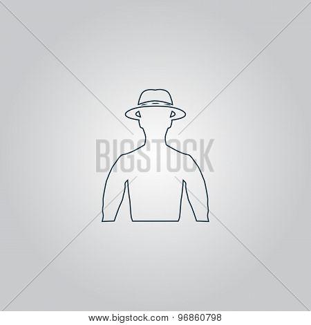 man with broad-brim