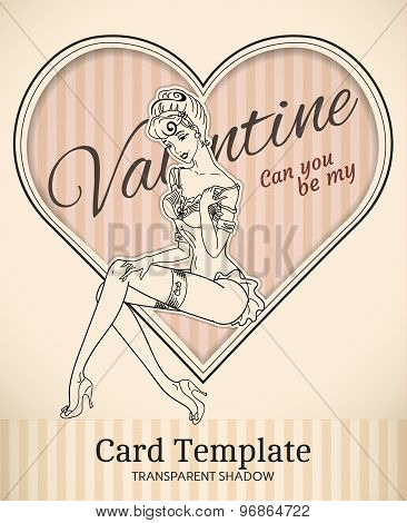 Valentine Heart Card Template