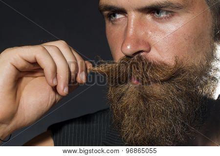 Portrait Of Unshaven Man