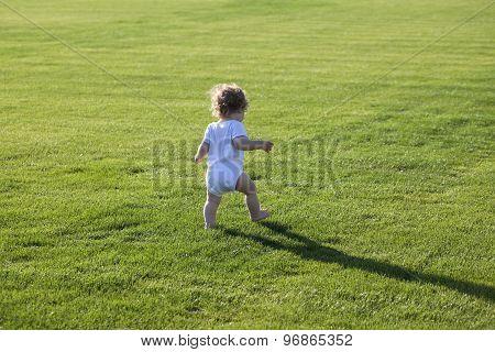 Happy Boy Green Grass