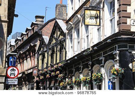 Liverpool city centre pubs.