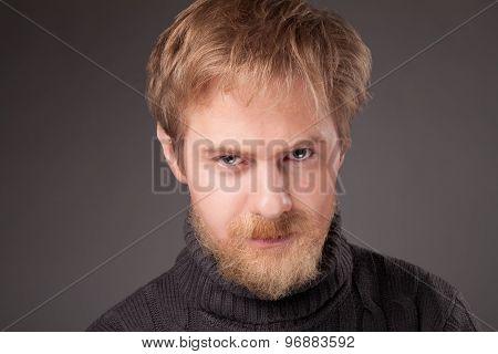 ginger bearded man