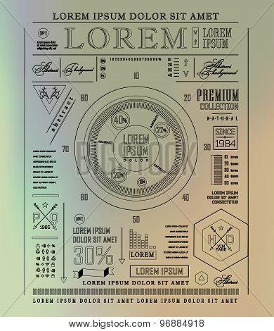 Transparent business Infographics. Shadows options