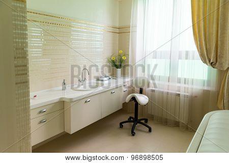 Novi Petrivtsi, Ukraine - May 27, 2015 Mezhigirya residence of ex-president of Ukraine Yanukovich. Luxurious spa room close up