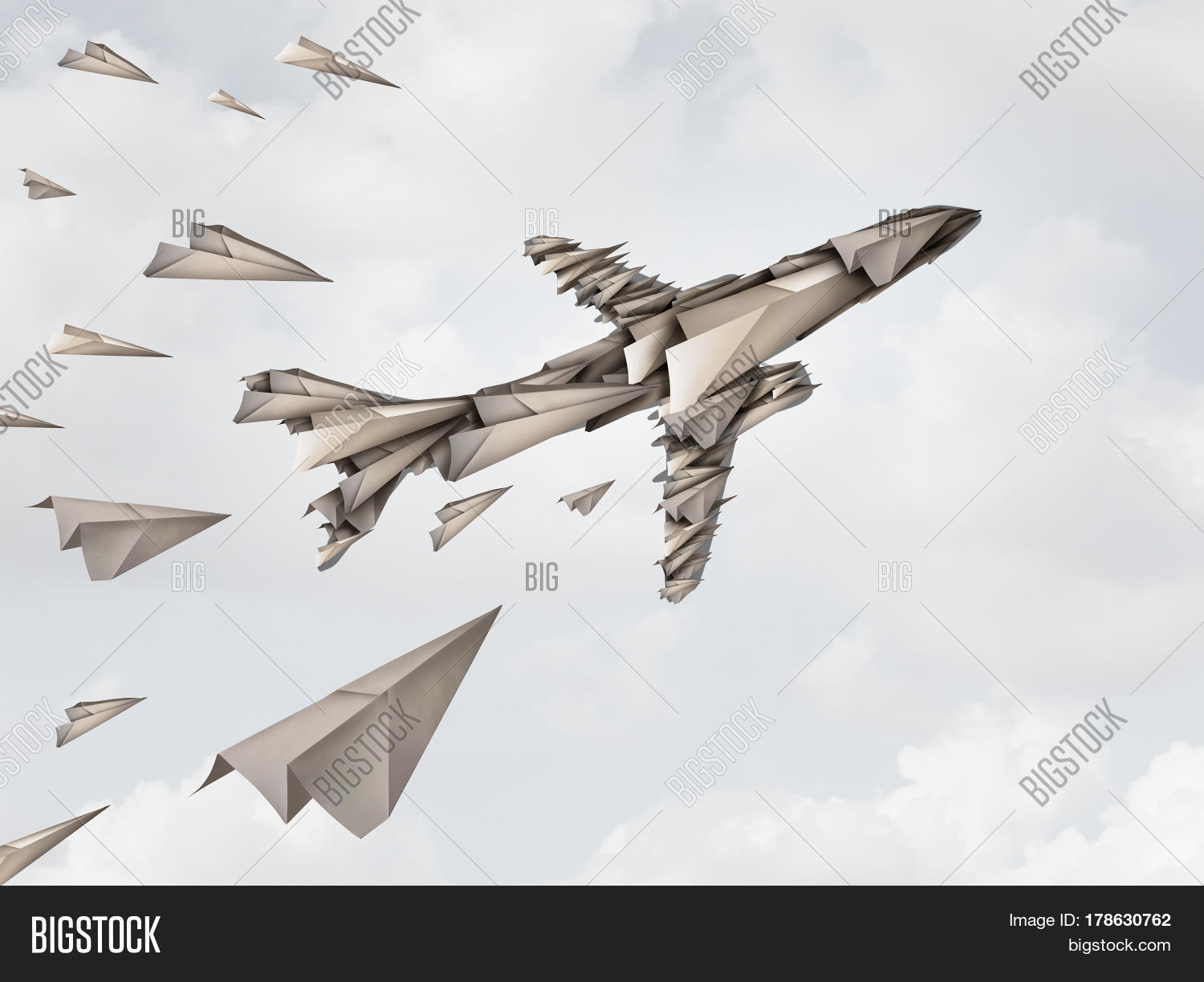 Teamwork unity concept joint effort image photo bigstock teamwork unity concept and joint effort symbol as a group of paper airplanes joining together to buycottarizona Gallery