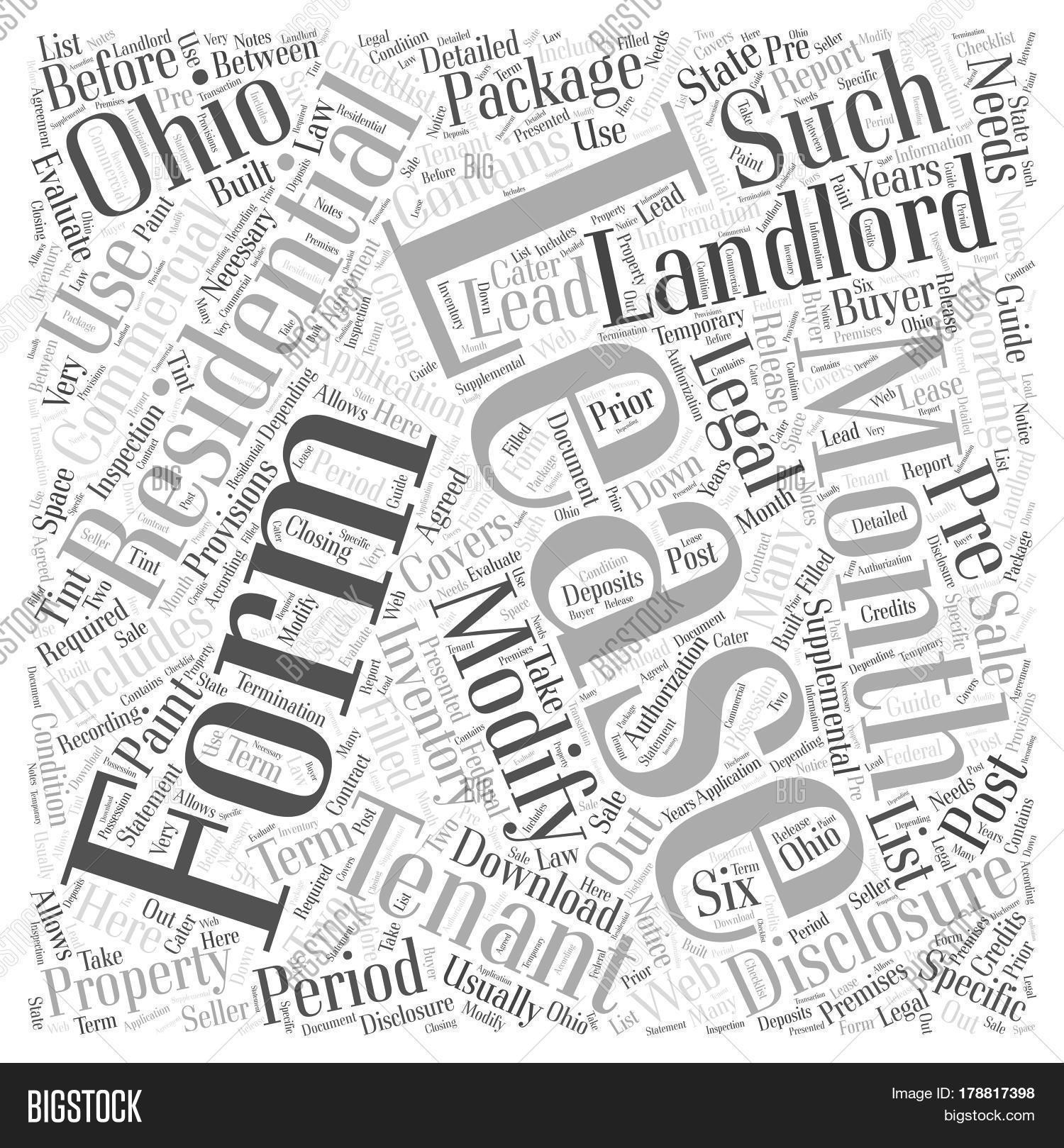Legal Forms Landlords Image Photo Free Trial Bigstock - Ohio legal forms