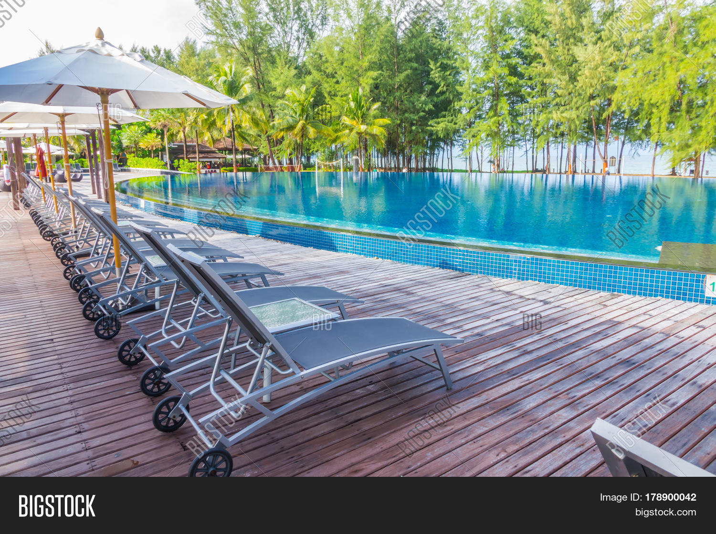 Swimming Pool Relaxing Seats Near Image Photo Bigstock