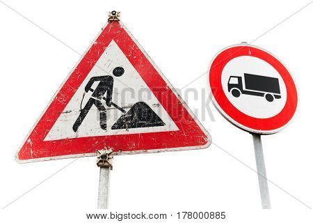 Roadworks, Freight Transport Traffic Is Prohibited