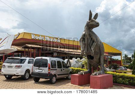 Huge Kangaroo Sculpture For Tourists At Rodo Master