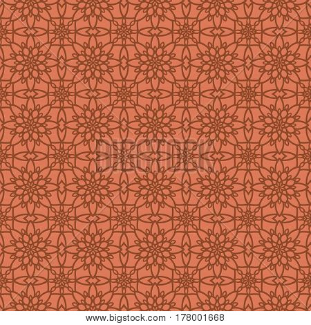 Abstract Seamless Pattern. Vintage Geometric East Ornament Pattern. Islamic, Arabic, Indian, Bohemia