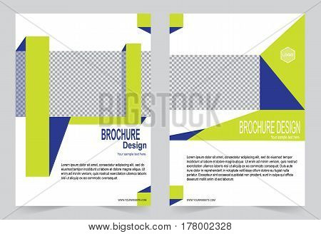 Yellow and Blue Brochure template flyer design abstract template for annual report magazine poste