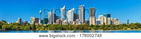 Panorama of Sydney central business district - Australia, New South Wales