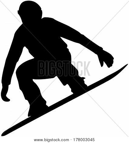 snowboard competition male athlete jump black silhouette