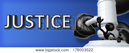 Justice Legal Gavel Concept 3D Illustration