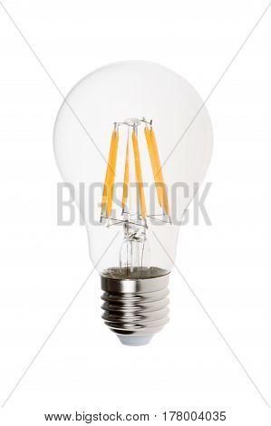 Modern light bulb isolated on white background