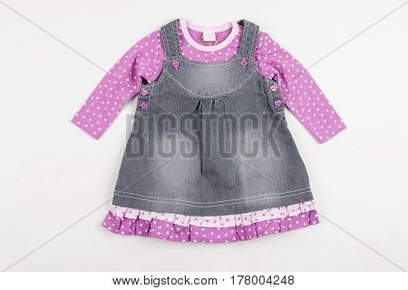 Cute pink skirt  (clothes) for little girl.