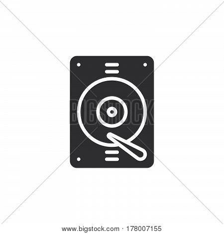 Hard drive icon vector filled flat sign solid pictogram isolated on white. Symbol logo illustration