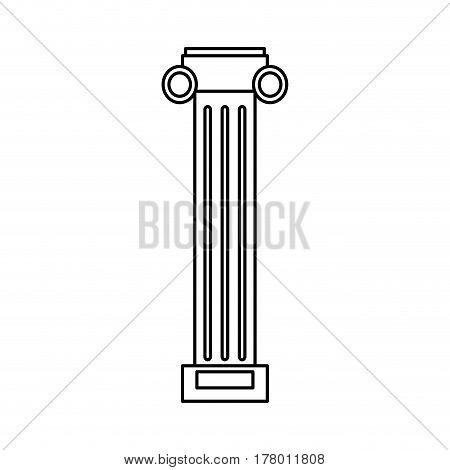 pilaster column decoration outline vector illustration eps 10