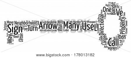 Directionals Move Properties text background word cloud concept