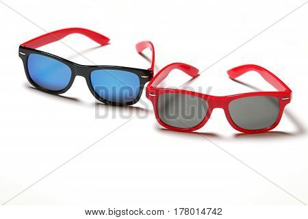 Sunglasses isolated on white Background Selective focus