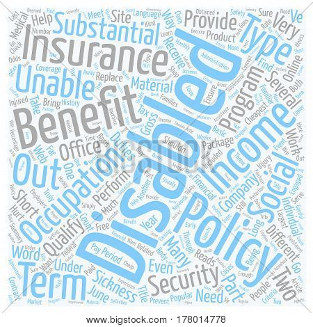 Disability Insurance Online text background wordcloud concept