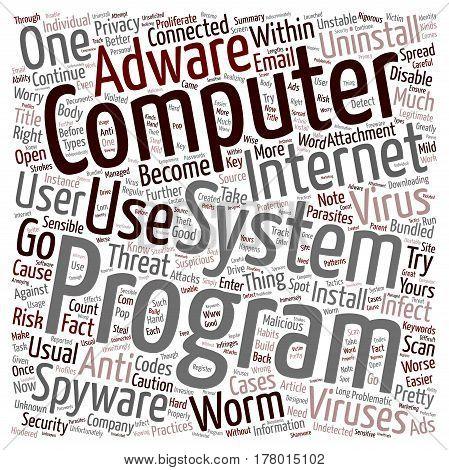 Disable Your Computer s Parasites text background wordcloud concept