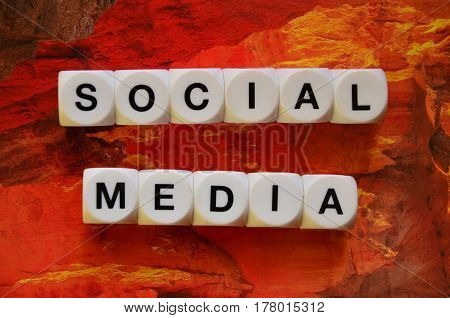 ord social media on a  abstract  colorful background