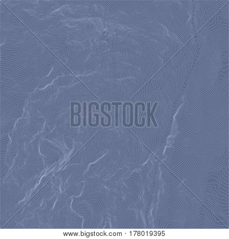 abstract topographic map in blue colors. Vector illustration
