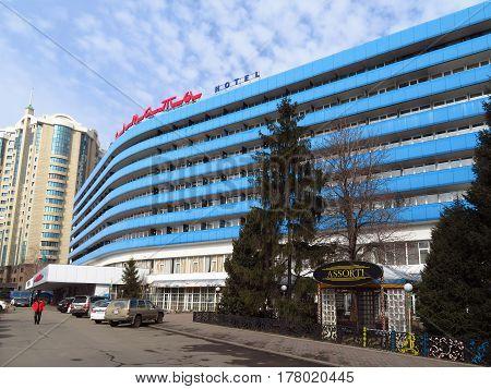 ALMATY KAZAKHSTAN - MARCH 21 2017: Hotel