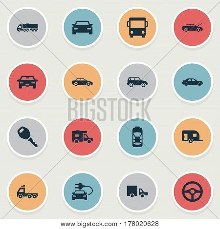 Vector Illustration Set Of Simple Automobile Icons. Elements Repair, Repairing Service, Auto And Other Synonyms Vehicle, Public And Service.