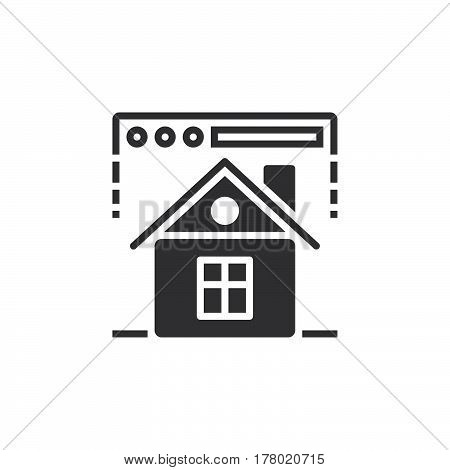 Homepage symbol. web browser and home icon vector filled flat sign solid pictogram isolated on white logo illustration
