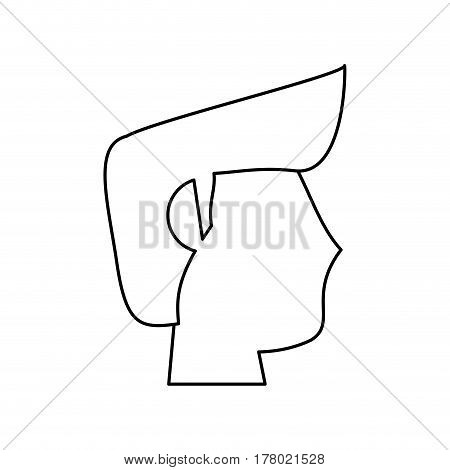 portrait head groom wedding outline vector illustration eps 10