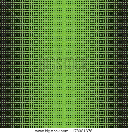Halftone Dots. Black dots on green Background. Halftone Texture. Halftone Dots. Halftone Effect. Vector. Background halftone. Comic book background